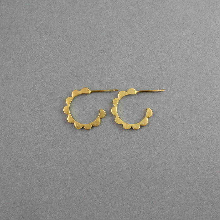 Audrey Hoops Mini Gold