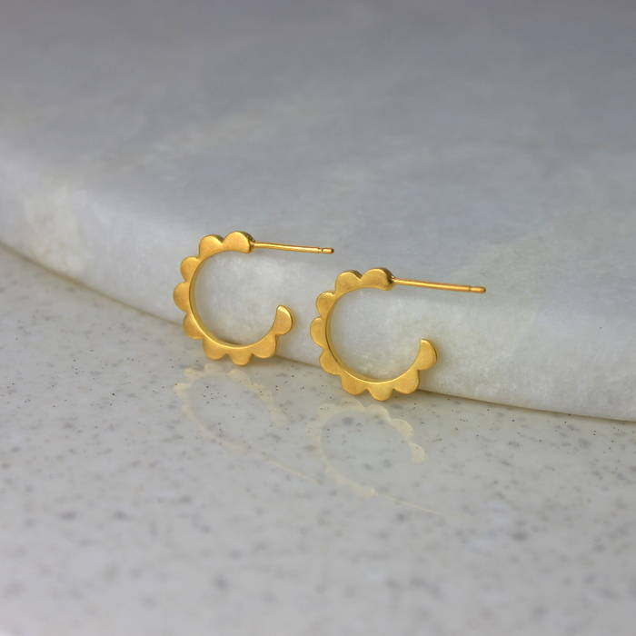 Ls Audrey Hoops Gold Mini