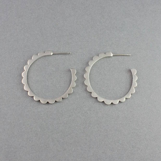 Audrey Hoops Large Silver