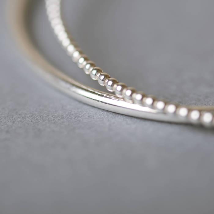 Betty Bangle Silver Detail 3