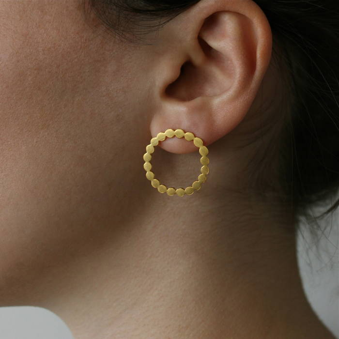 Dotty Cora Studs Gold
