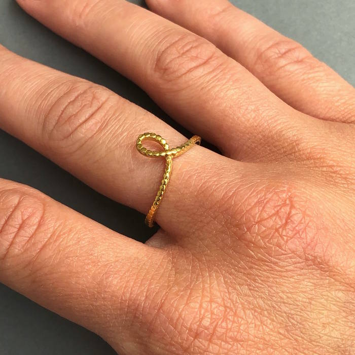 Hope Ring Worn Gold