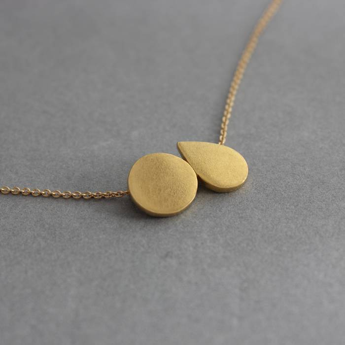 Mabel Necklace Gold Side