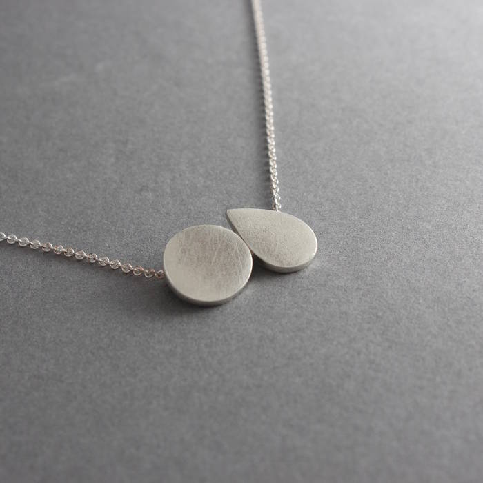 Mabel Necklace Silver Side