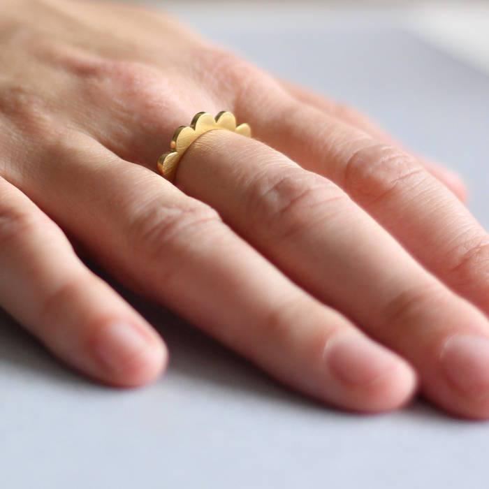 Maggie Ring Gold Worn