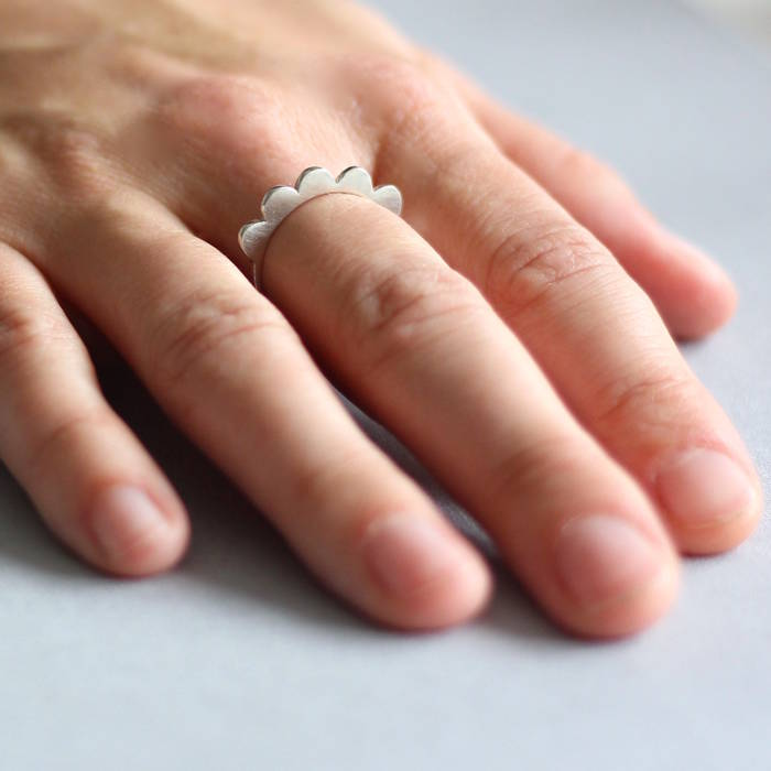 Maggie Ring Silver Worn