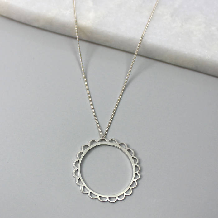 Olive Necklace Silver