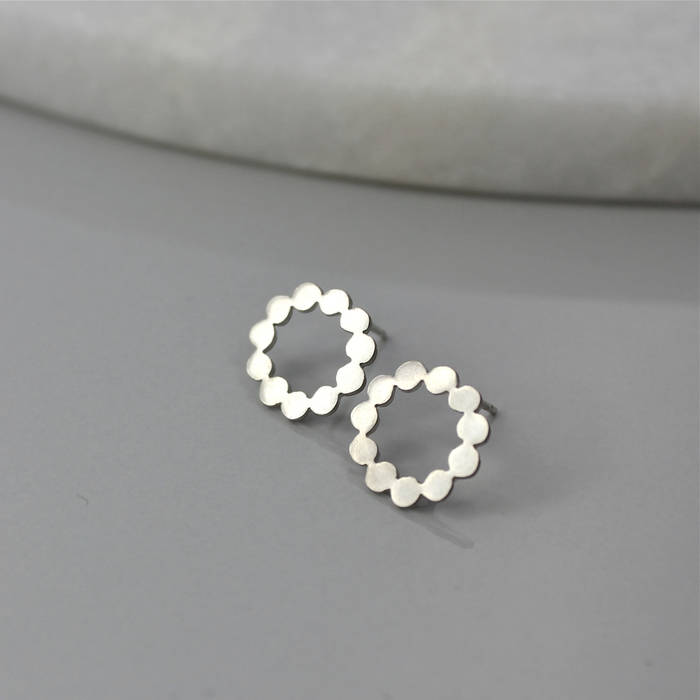 Polly Studs Silver