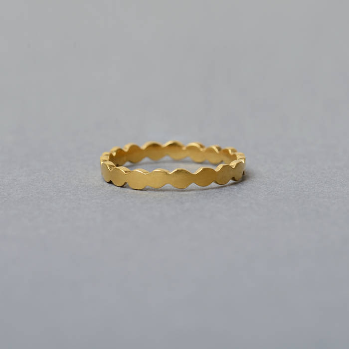 Rosa Ring Fine Gold Side