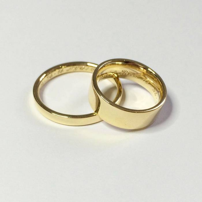 Chunky Gold Wedding Rings
