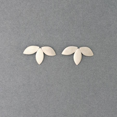 Flora Studs Silver Cropped