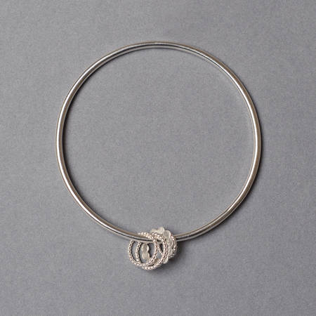 Dotty Doris Bangle Silver