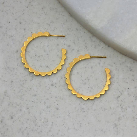 Ls Audrey Hoops Large Gold